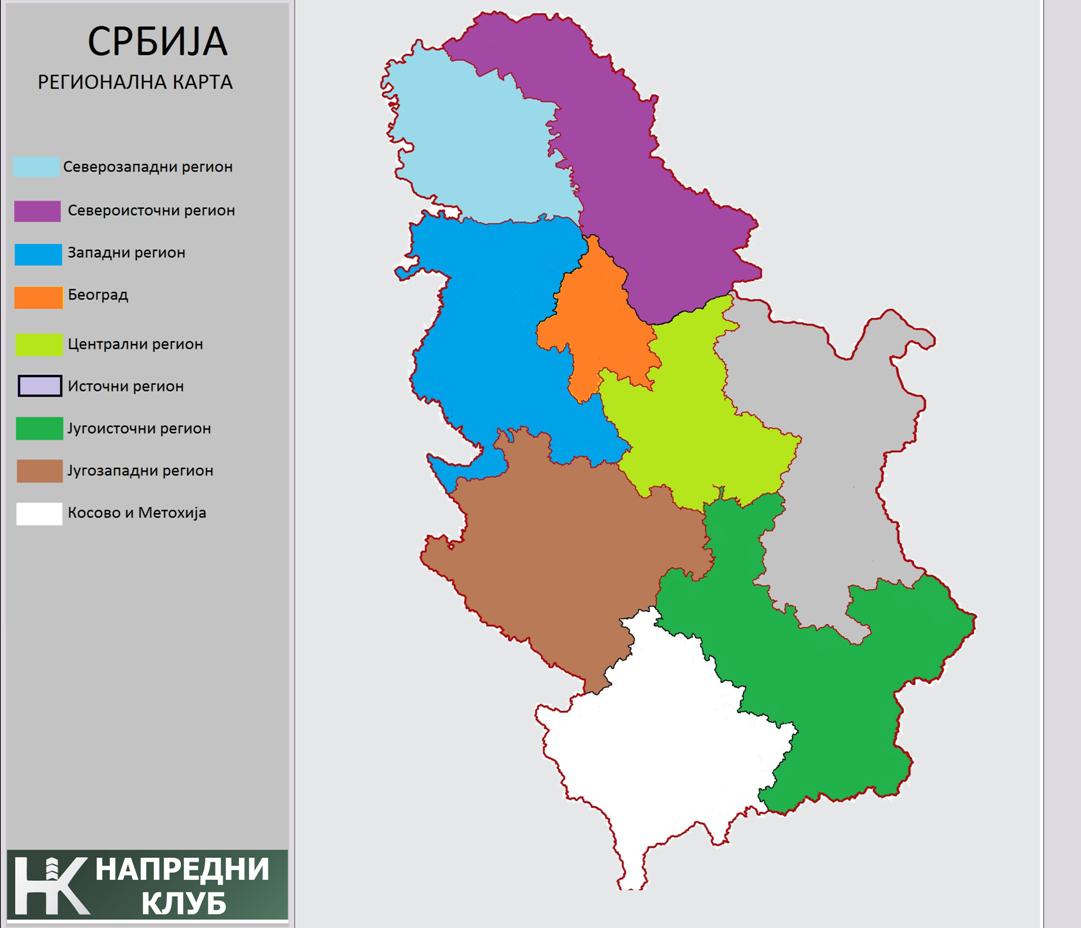 Karta novih regiona NK - mala